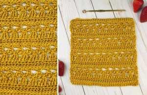 Crochet Lace Square Pattern - Little Angel Square