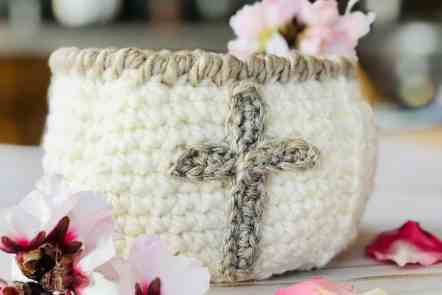 Cross Crochet Easter Basket