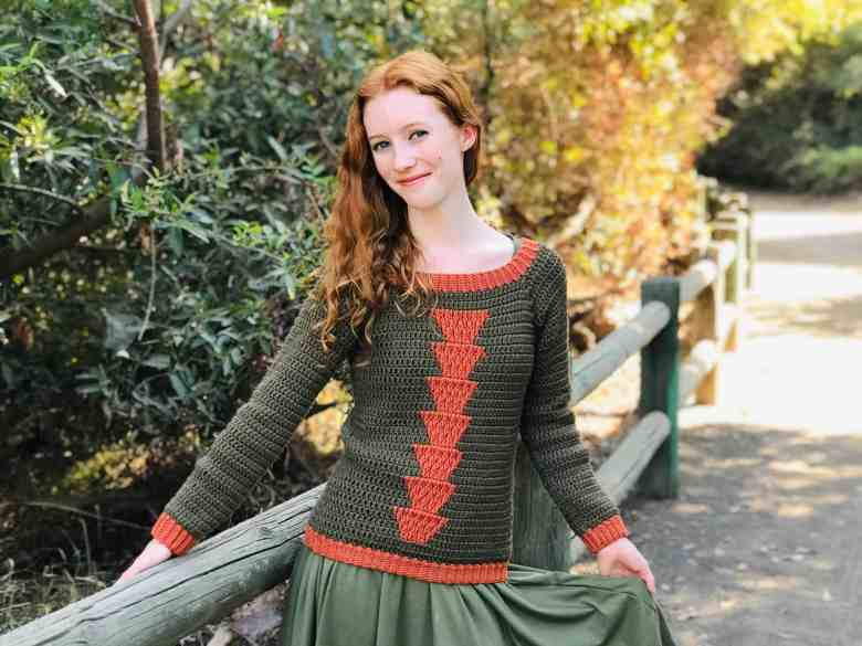 crochet raglan sweater pattern - Timberlane Sweater