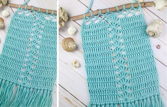Seaside Lace Wall Hanging - Free Crochet Pattern