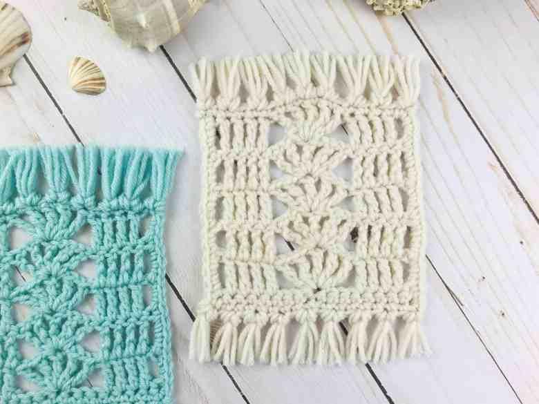 Crochet mug rug pattern