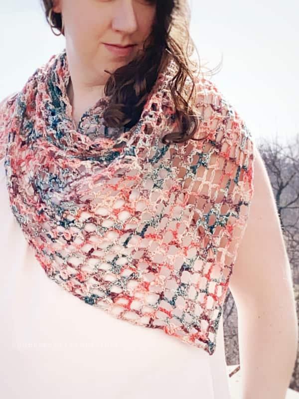 Iris lace crochet shawl pattern