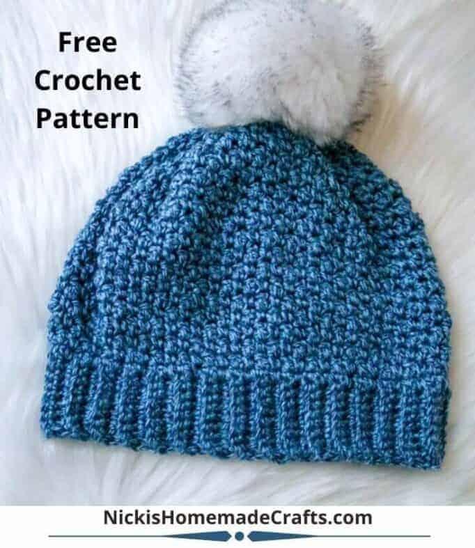 Lemon Peel Crochet Hat with Worsted Weight Yarn