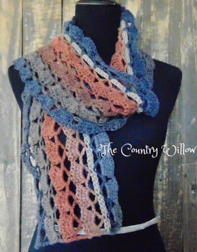 mandala lace scarf crochet pattern
