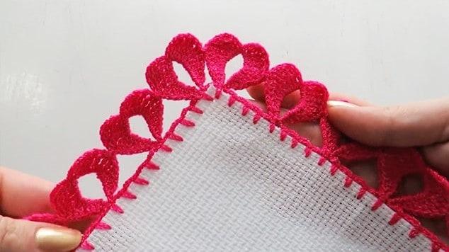 Crochet Heart Border