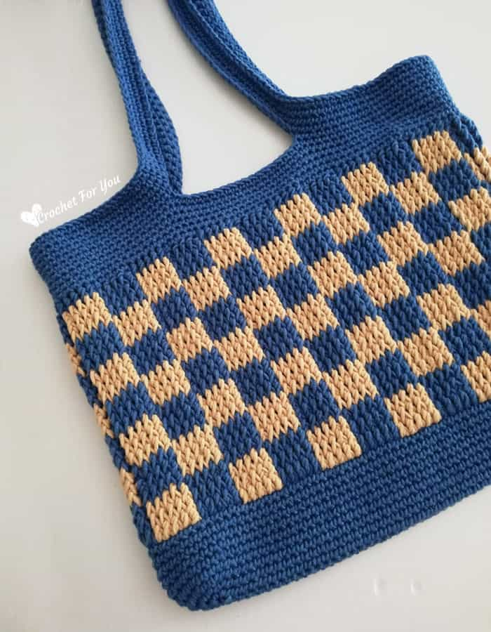 Checkered Crochet bag pattern