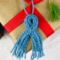 Mini Keyhole Scarf Crochet Pattern for Ornaments or Dolls