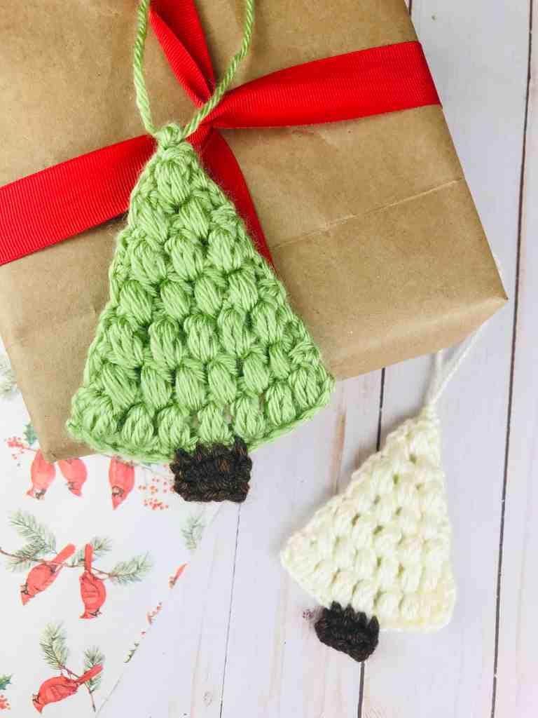 Crochet Flat Christmas Tree Ornament Pattern