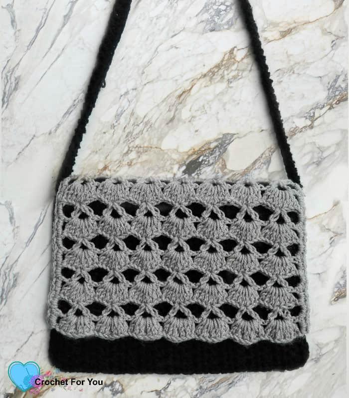 Shell Stitch Crochet Crossbody Bag