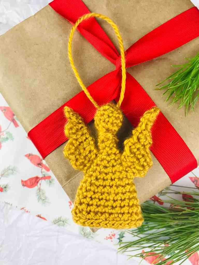 Motif d'ornement d'ange au crochet pour Noël