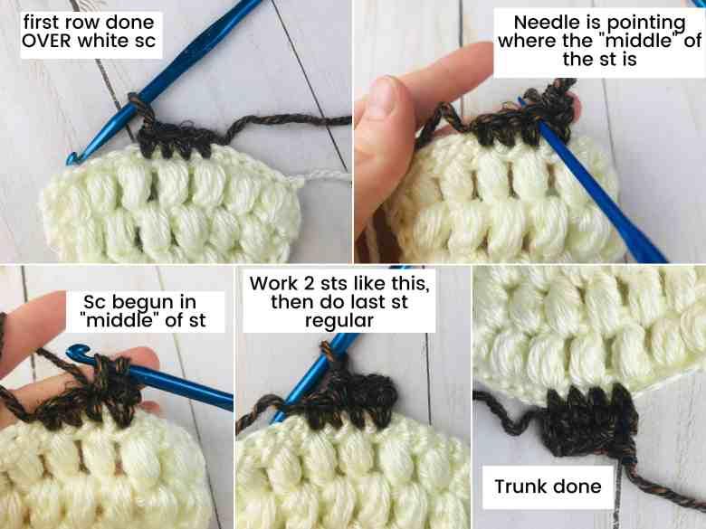 crochet tree trunk tutorial