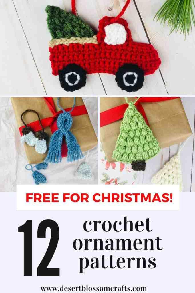12 Crochet Christmas Ornament Patterns - All Free!
