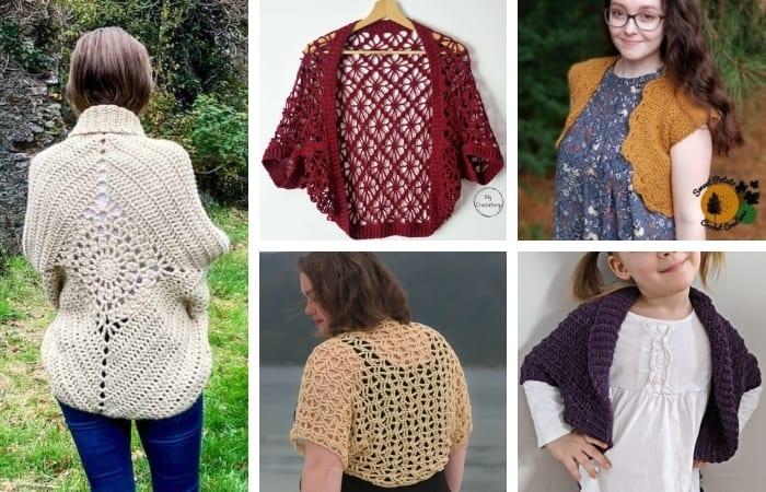 18 Modern & Stylish Crochet Shrug Patterns