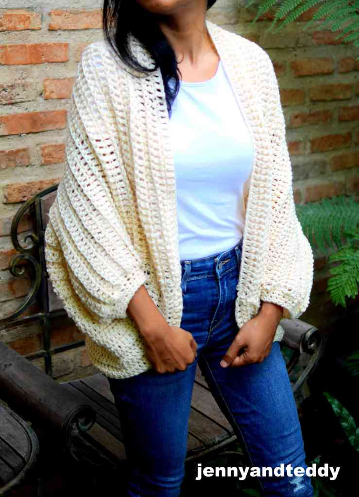 Double crochet shrug pattern