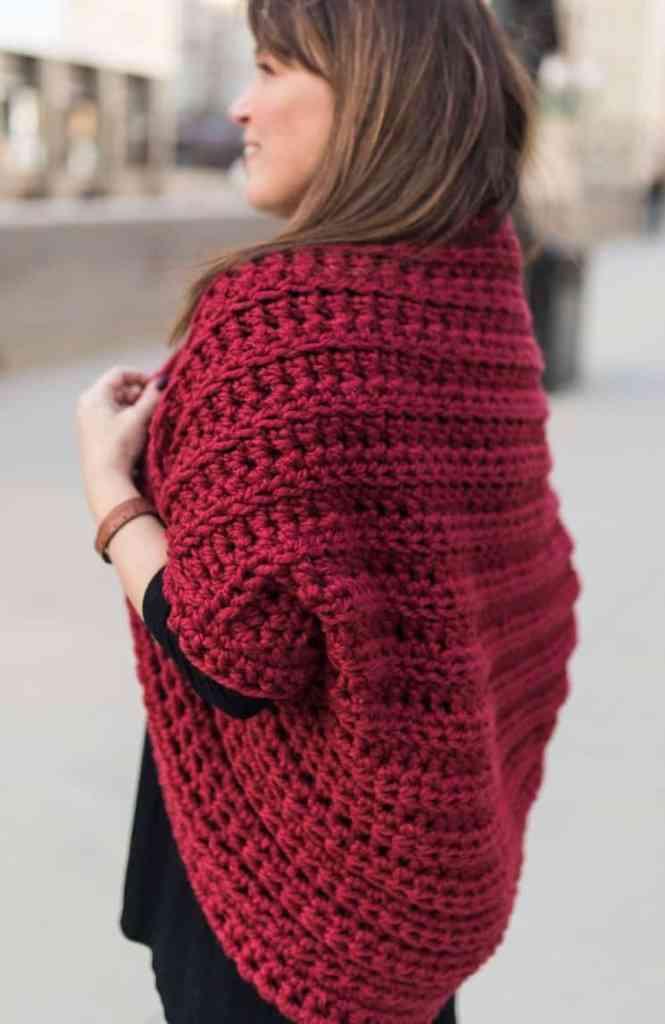 Chunky crochet shrug pattern