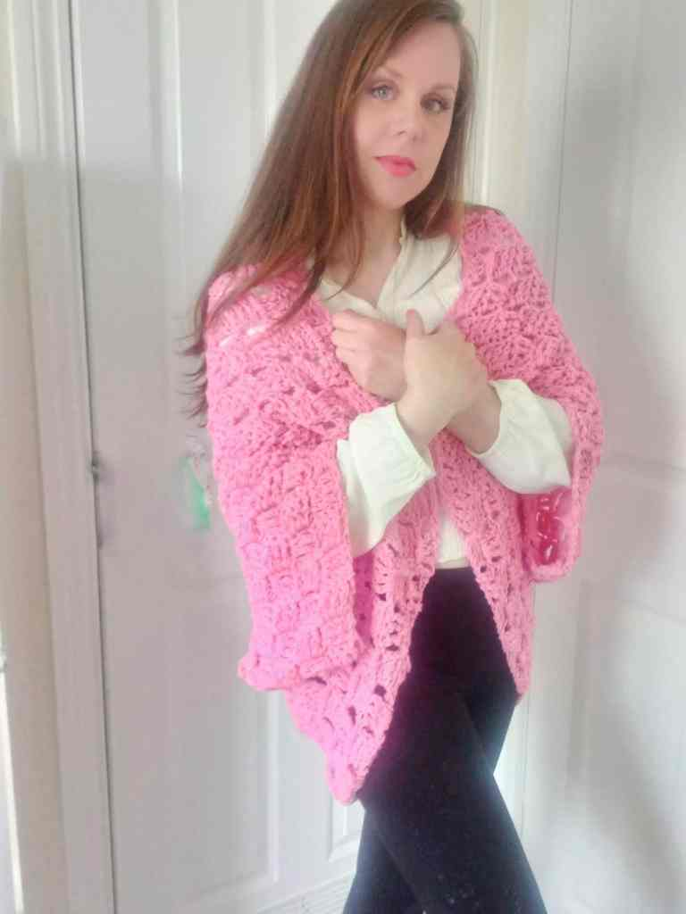 Pink Crochet Shrug Pattern