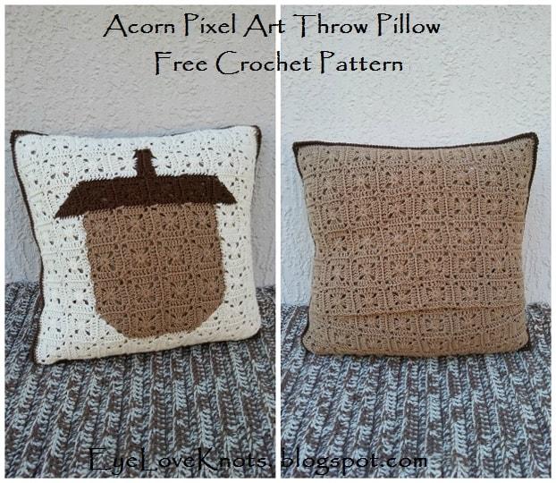 Fall Acorn Pillow Crochet Pattern