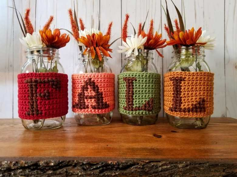 Fall Jar Cover Crochet Pattern