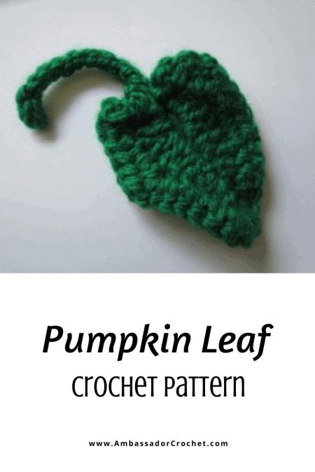 Pumpkin leaf crochet pattern