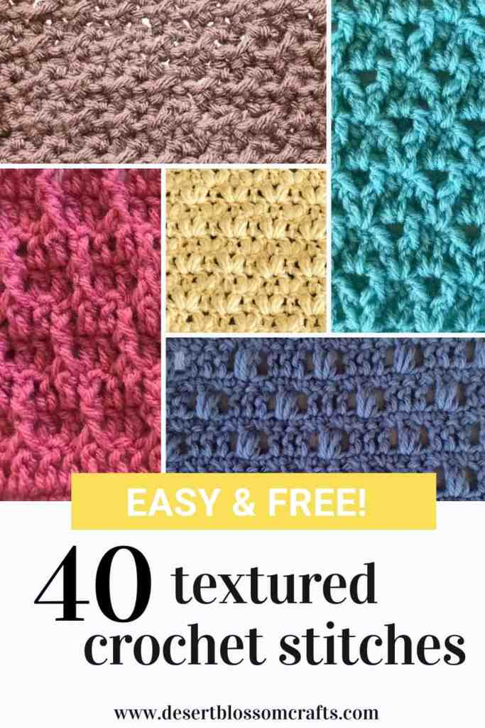 Ultimate List of Textured Crochet Stitches - All FREE!
