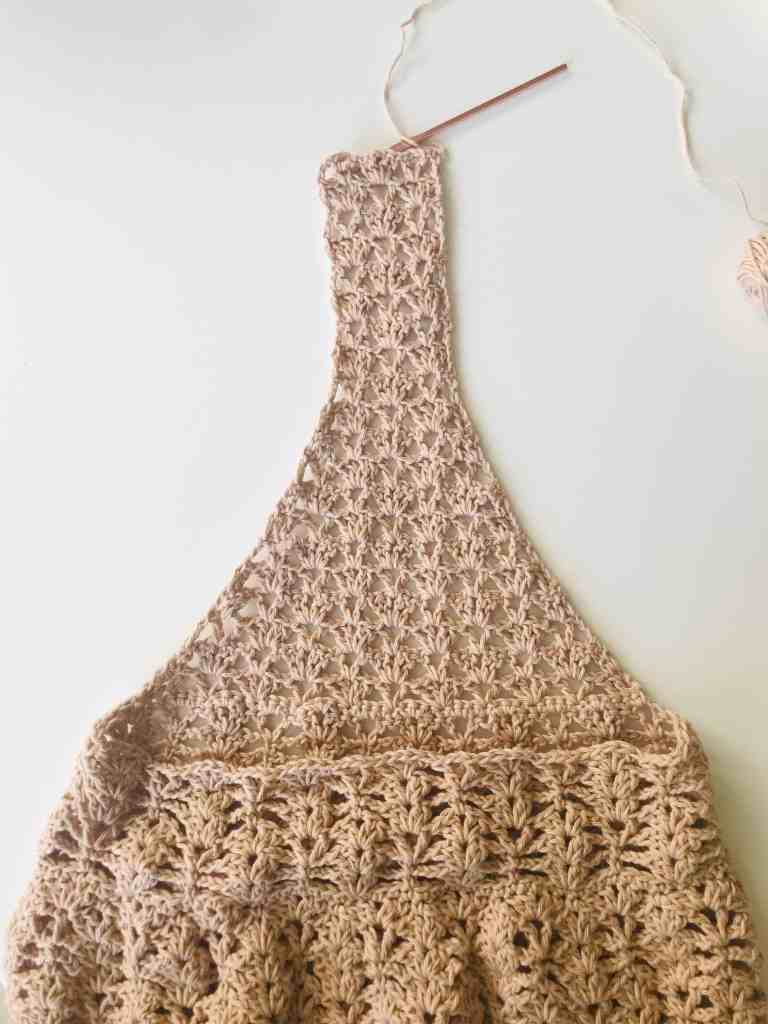 crochet produce bag handle tutorial