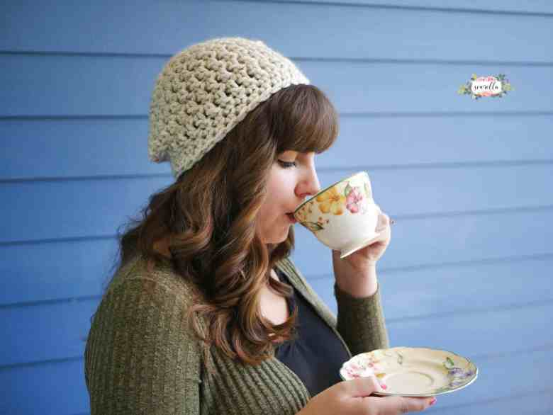Wool Ease Thick & Quick Slouchy hat pattern
