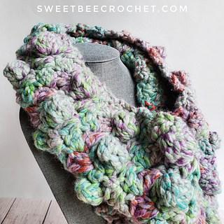 Bulky bobble neck warmer crochet