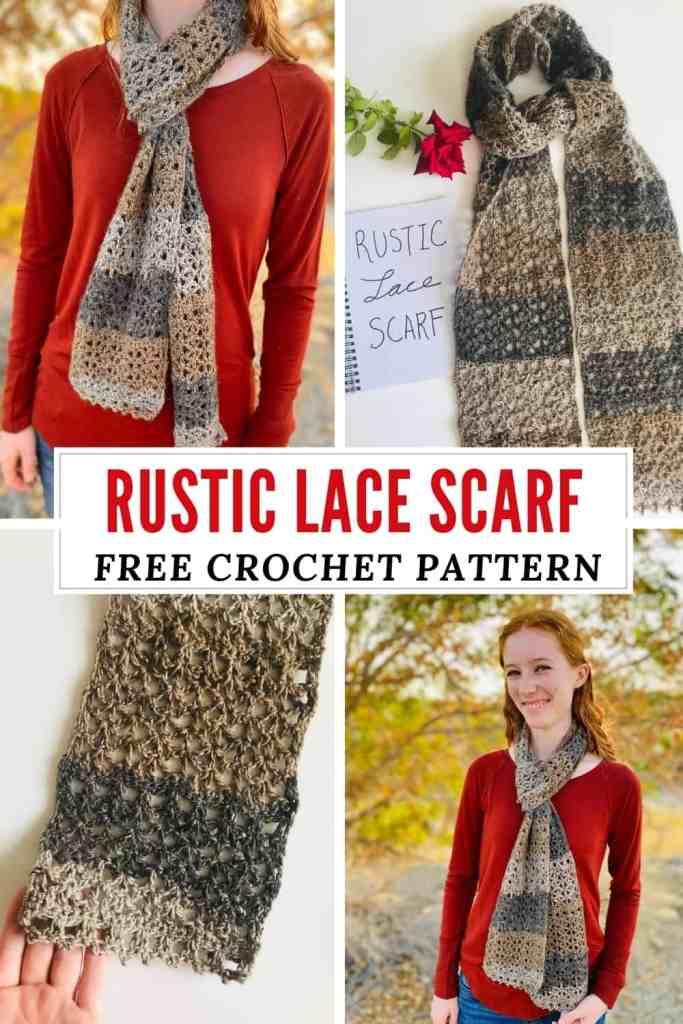 Rustic Lace Scarf - Free Crochet Pattern