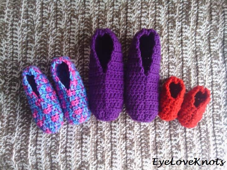 Crochet Slipper Socks Pattern