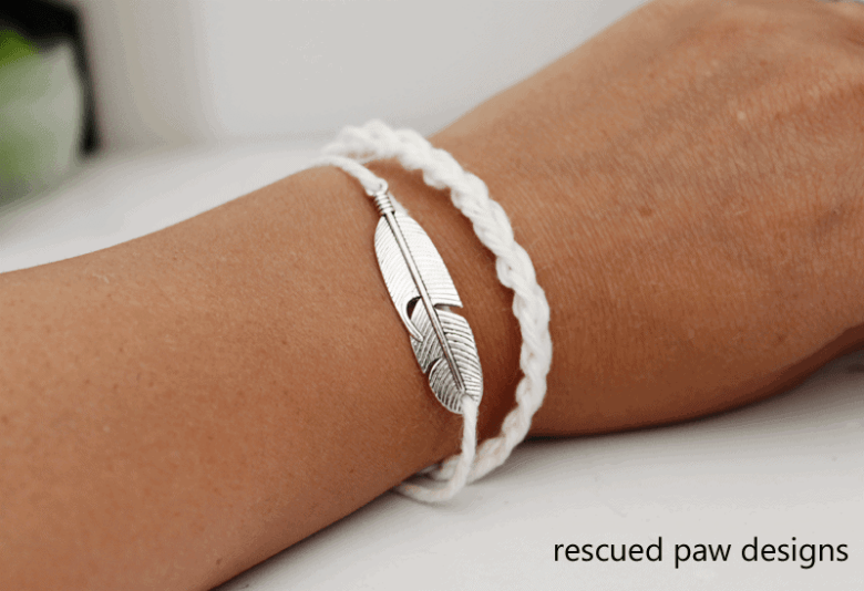 Feather Crochet Friendship Bracelet