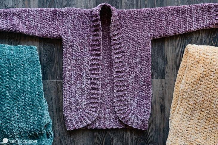 Kids Velvet Cardigan Crochet Pattern