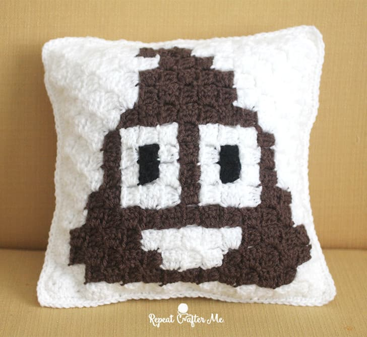 poop emoji crochet pillow gift for teenage guys