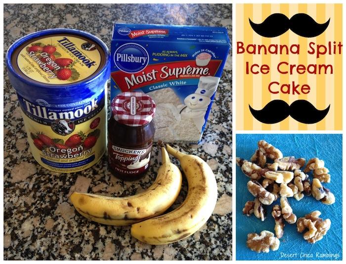 Easy Banana Split Ice Cream Cake