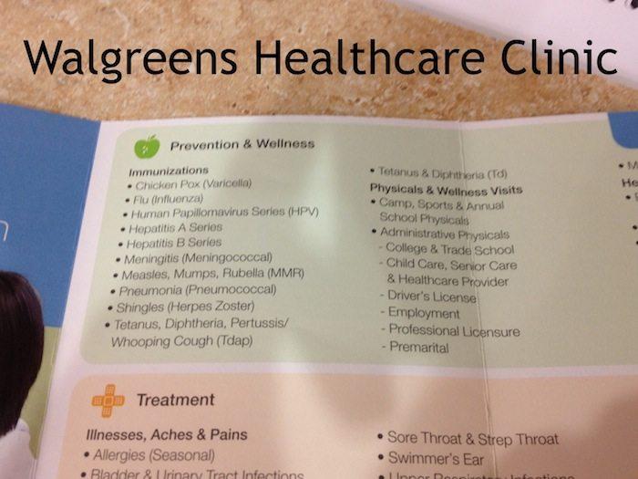 Walgreens Healthcare Immunizations #shop