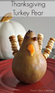 Thanksgiving Turkey Pear appetizer