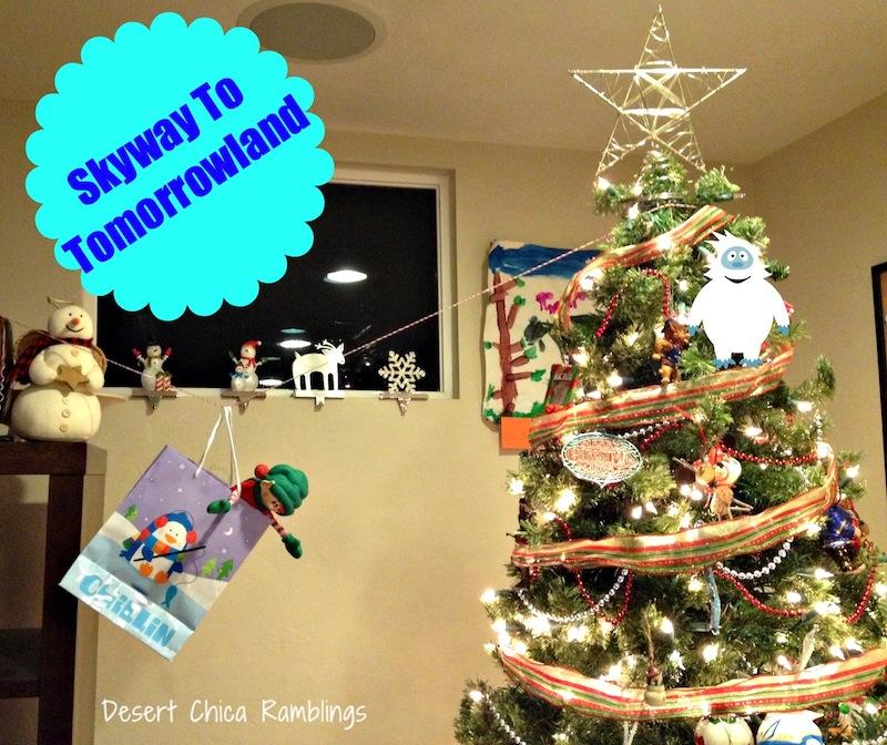 Elf on the shelf disney ideas: tomorrowland