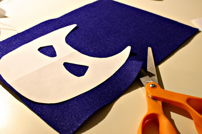 Cut out Captain America Mask Template