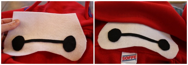 baymax costume eyes