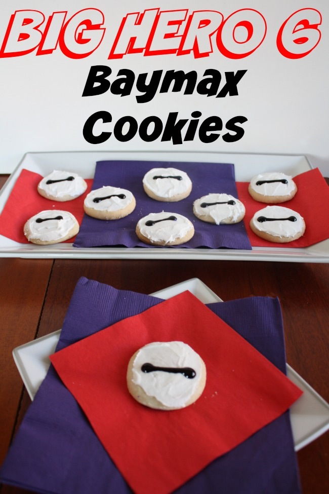 Easy DIY Big Hero 6 Baymax cookies