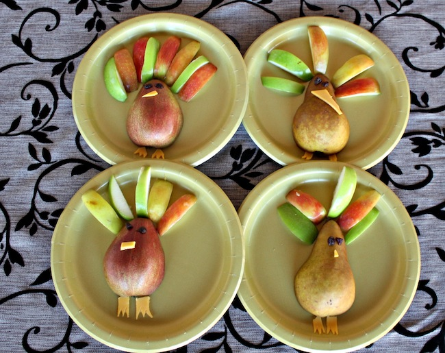 Thanksgiving fruit turkey kids activity