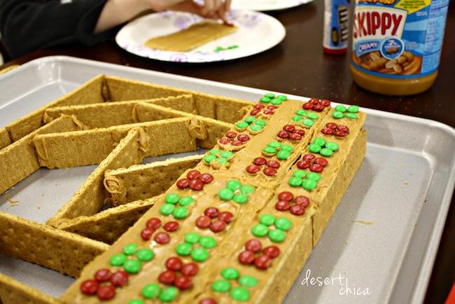 Christmas Board unique gingerbread house idea