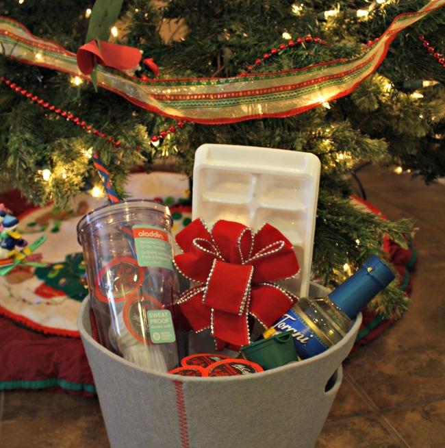 Coffee lovers gift basket idea