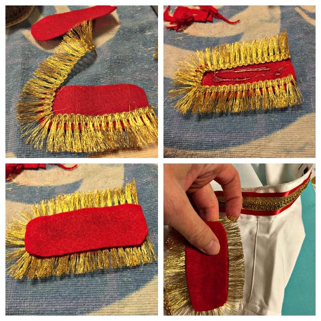 DIY Cinderella's Prince Charming Costume Shoulder Detail