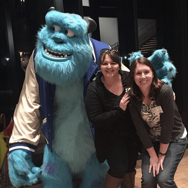Sully at Pixar Studios