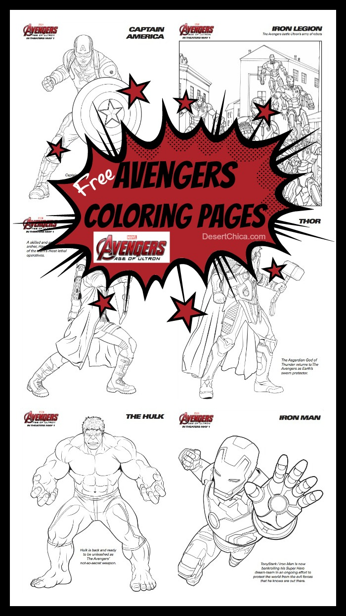 Avengers Age of Ultron Coloring Pages