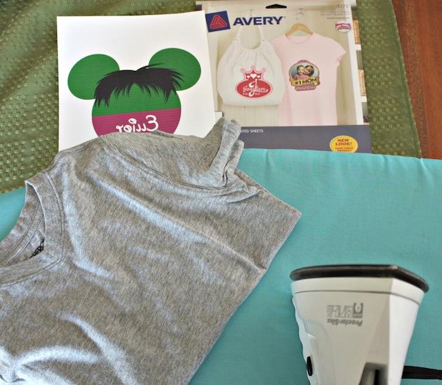 DIY Hulk Shirt Supplies