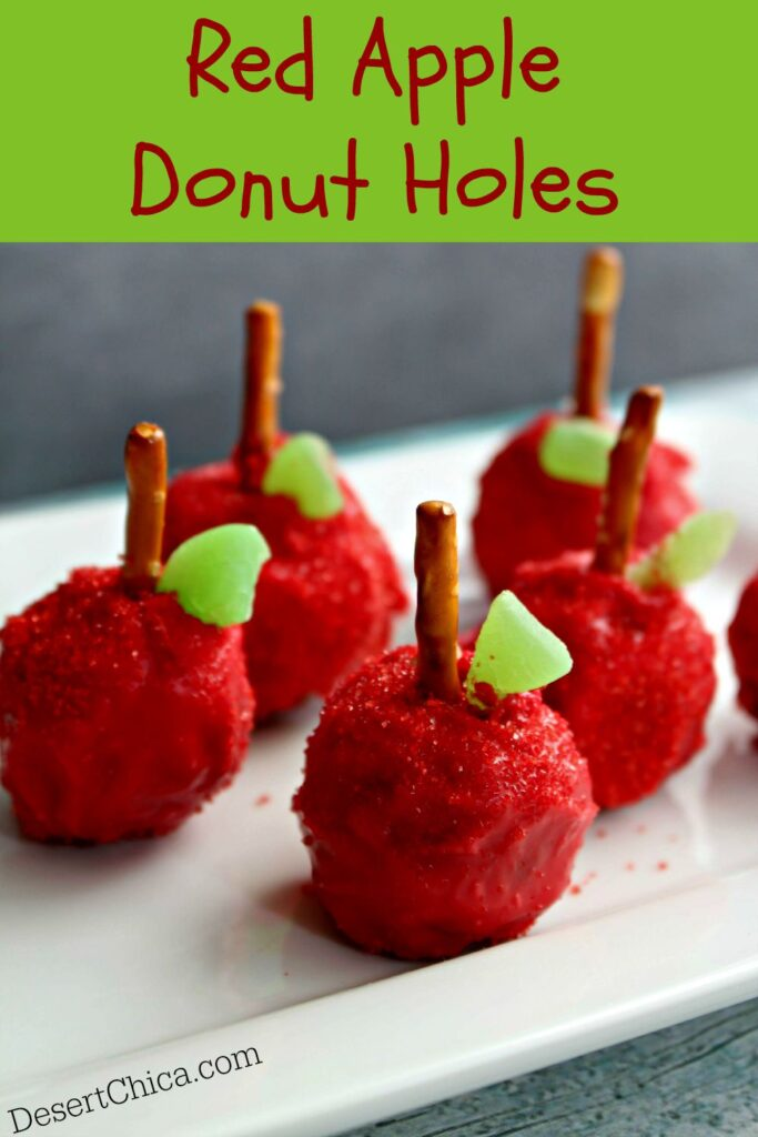 Red Apple Donut Holes a fun back to school breakfast or treat