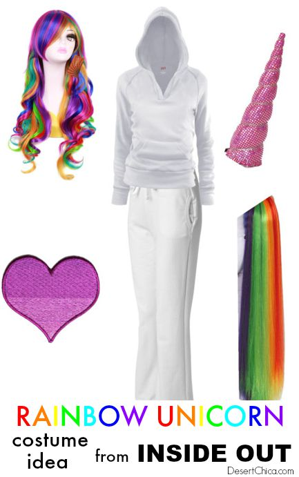 Rainbow Unicorn Costume Idea Inside Out