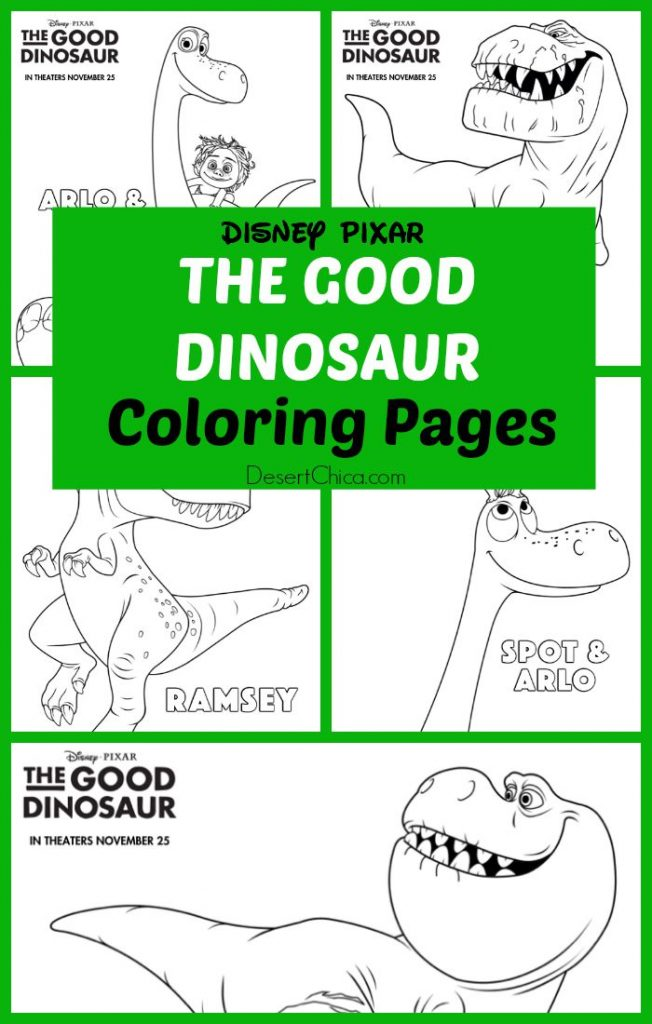 the good dinosaur coloring pages  desert chica