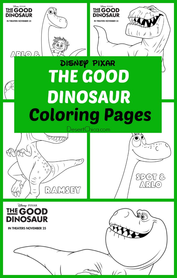 The Good Dinosaur Colorings Pages
